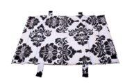 Mitata-co-sleeping-mat-black-white-flower-print