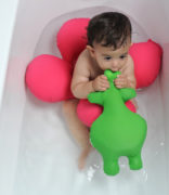 baby sitting in Papillon baby bath ring
